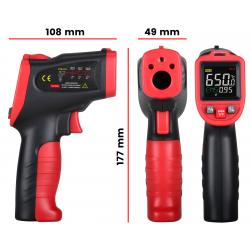 Pirometr Wintact WT323A (-50 do 650°C) ze światłem UV i pamięcią pomiarów