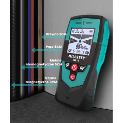 Detektor przewodów wykrywacz kabli metalu MILESEEY WD10 IP65